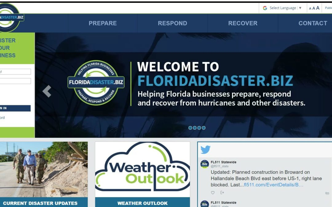 New Website Will Help Florida Businesses Prepare for Natural Disasters