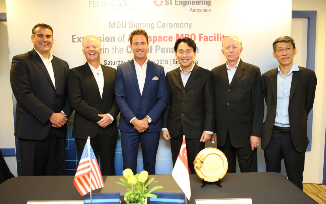 ST Engineering Aerospace signs Memorandum of Understanding to expand its presence at the Pensacola International Airport