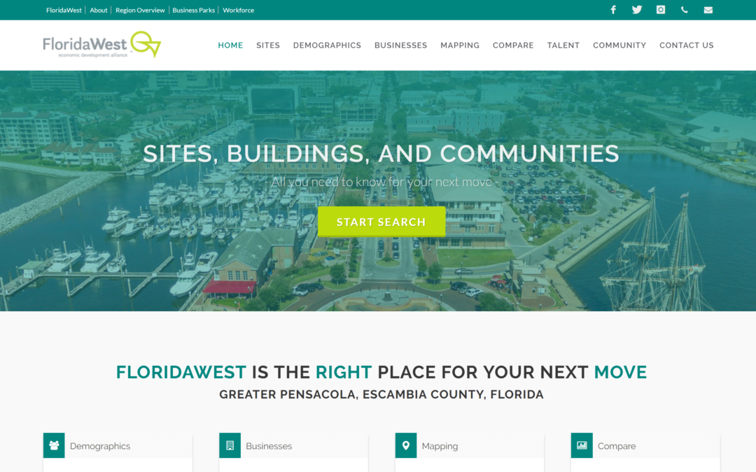 FloridaWest Showcases New Sites and Buildings Website