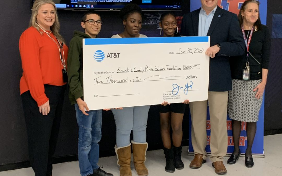 Escambia County Public Schools Foundation Receives AT&T Grant for Students to Experience 'STEM@Work'