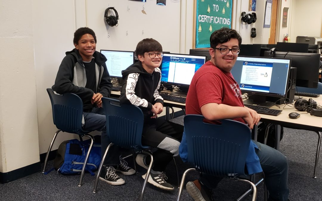 Ferry Pass Middle School CyberPatriot Team Wins 3rd Place Award in Florida